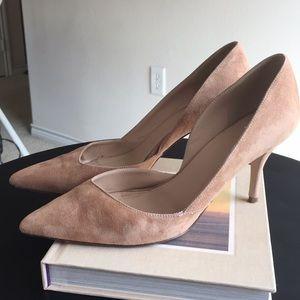 J. Crew Colette suede D' Orsay heels
